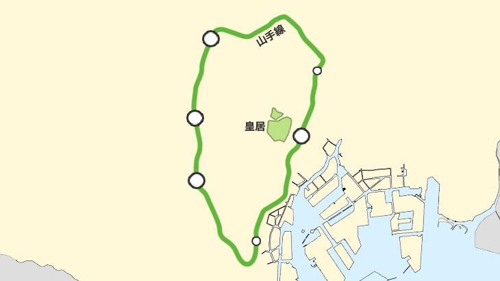 東京の地理を覚えるために,まずは「皇居」と「ターミナル駅」をおさえよ!【東京A1】